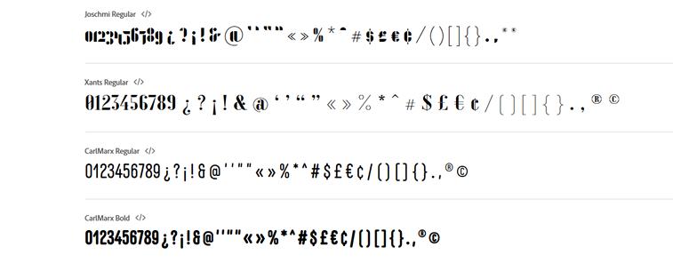 brojevi znakovi font bauhaus tipografija adobe fontovi