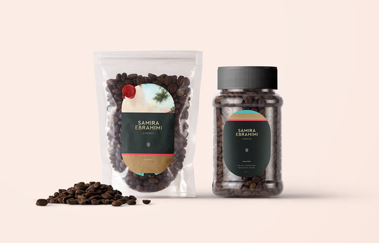 samira ebrahimi coffee brand packaging design