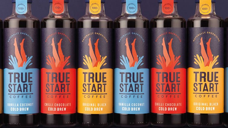 true start coffee bottles design