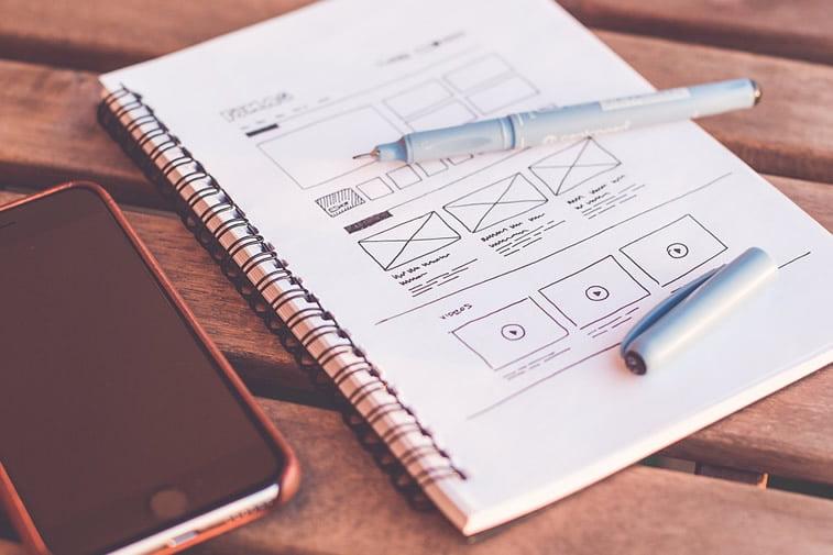 web dizajn skica izrada unikatnog sajta wireframe