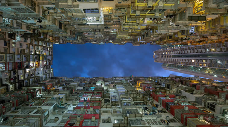 Quarry Bay district in Hong Kong residential buildings