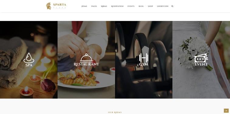 sparta plaza hotelski web sajt tema