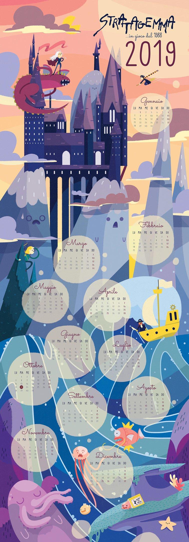 Stratagemma 2019 ilustrovani kalendar