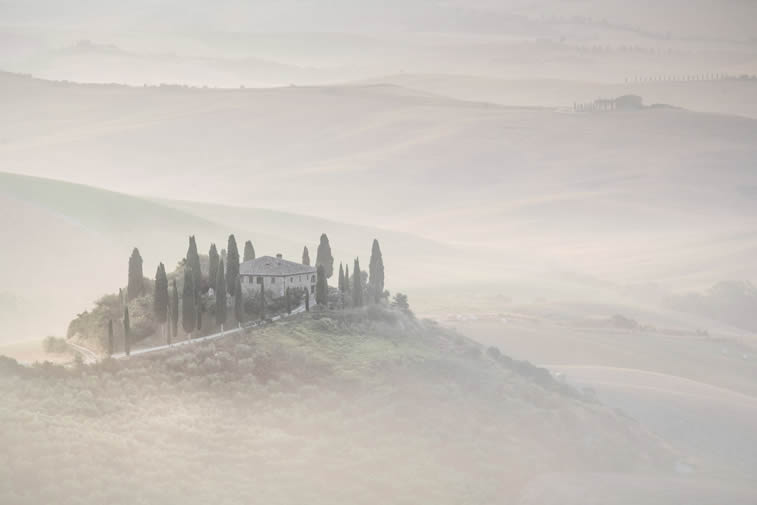 Sunrise over the Val d'Orcia Tuscany