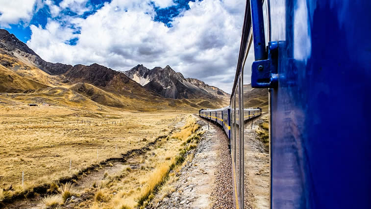 Andean Express travels between Cusco and Puno in Peru