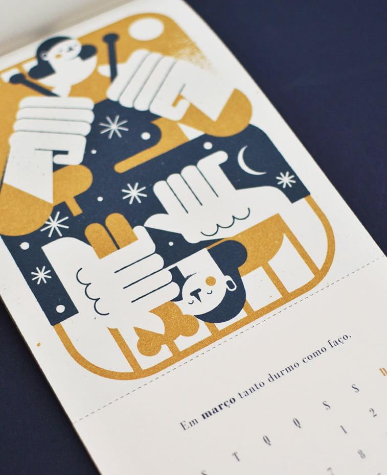 Kalendar za kompaniju Beija Floor ilustracija