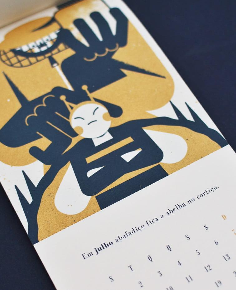 ilustrovani kalendar za kompaniju Beija Floor portugalski