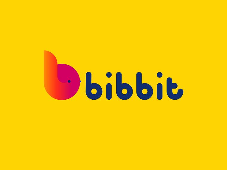 bibbit logo design bright colors