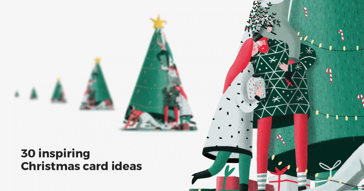 Christmas Greeting Card Ideas.30 Inspiring Christmas Card Ideas