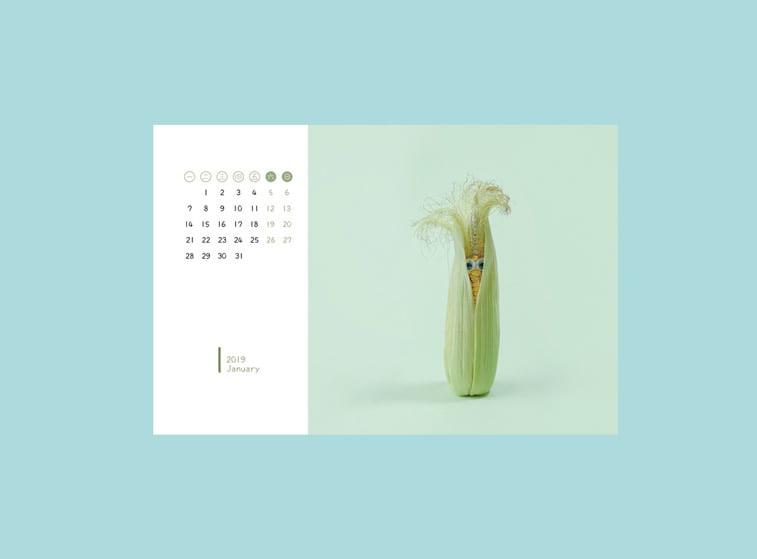 januar 2019 kalendar kukuruz fotomanipulacija