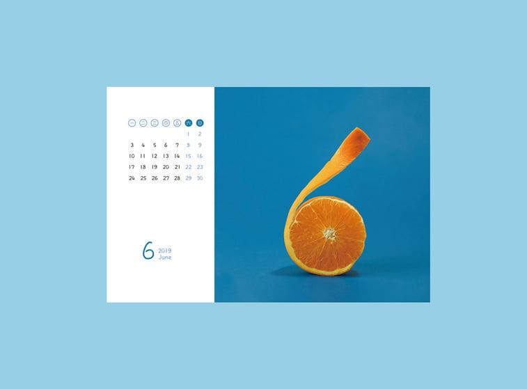 food calendar 2019 jun pomorandza sesti mesec