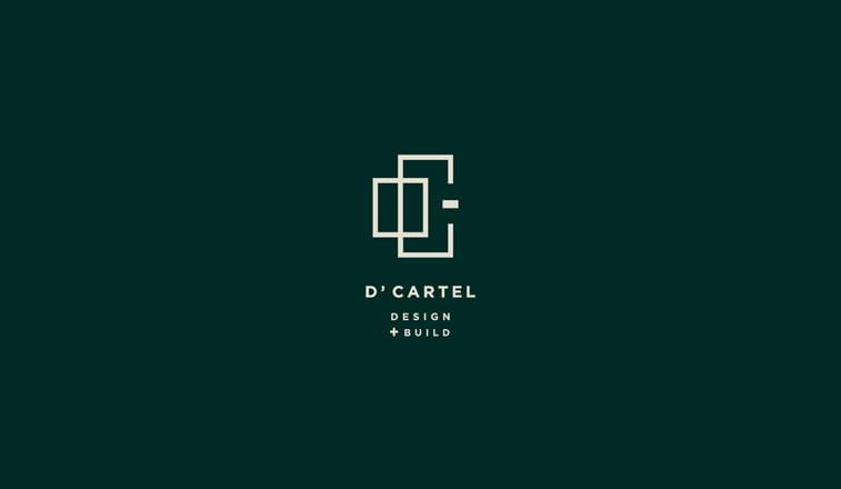 d cartel logo design geometry square rectangle