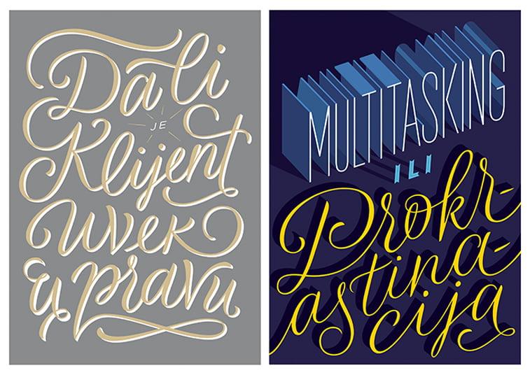 pravo klijenta multitasking tipografija