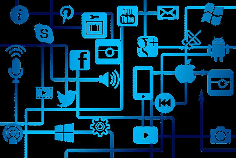 ikonice drustvene mreze povezanost profila prisutnost brenda onlajn