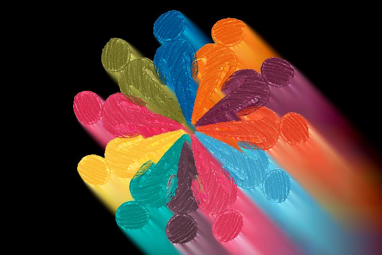 vektorska grafika crtez persona povezanost ljudi personalizacija