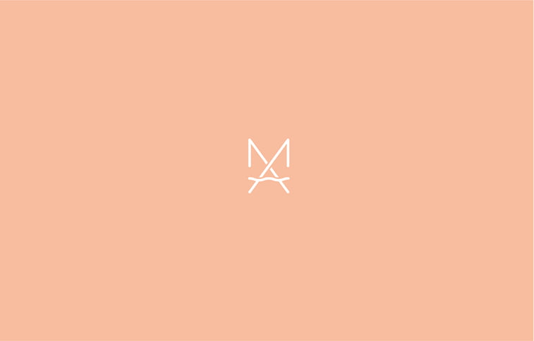 M A monogram logo design minimal