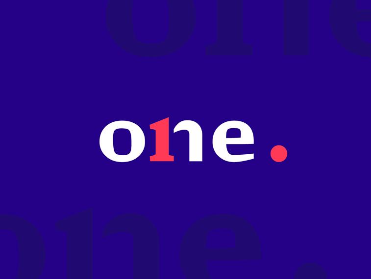 logo design for one bright colors branding