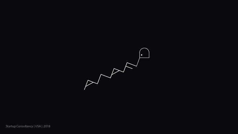 startup consultancy logo metaphorical stairs minimlaistic