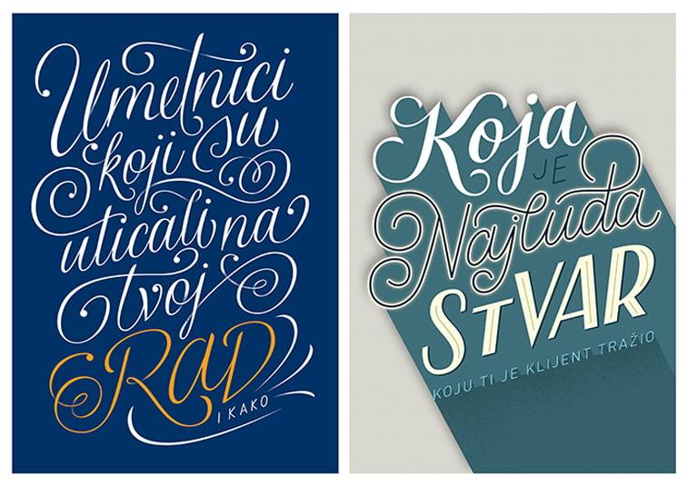 umetnicki rad tipografija pitanja dizajnerski leksikon