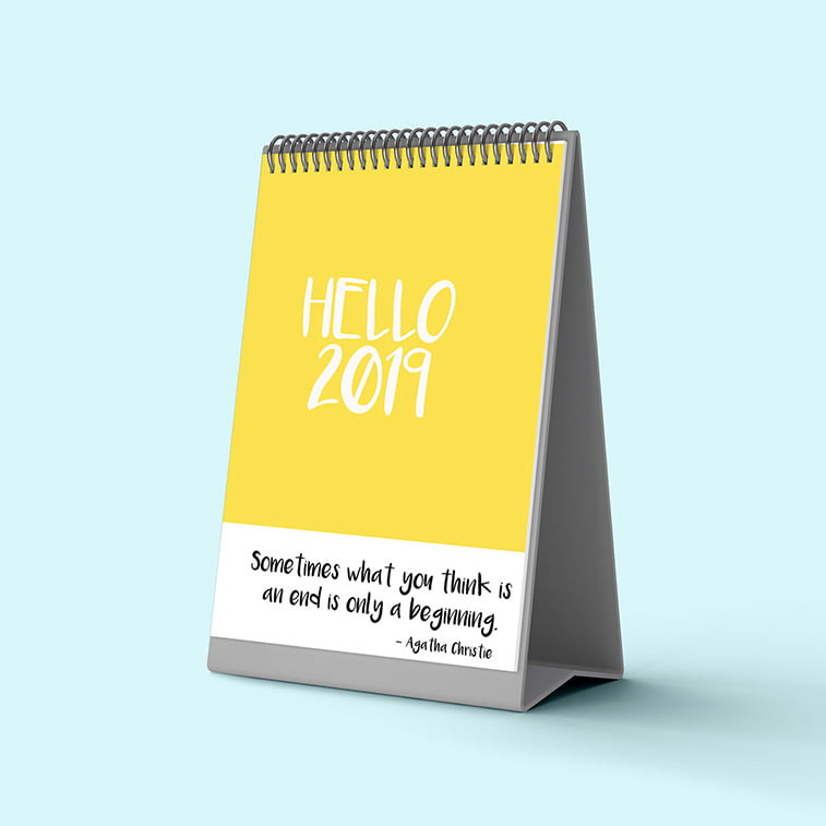 Inspirativni primeri dizajna kalendara za 2019. godinu