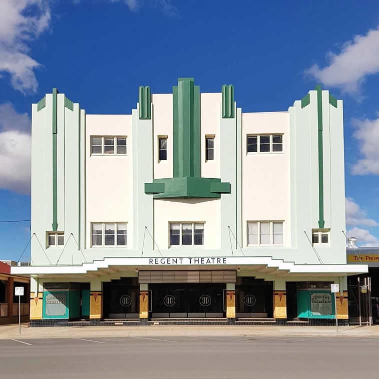 regent theatre bulding facade architceture