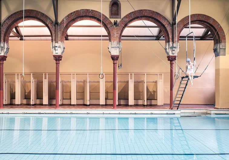symmetry pool swimmer interior