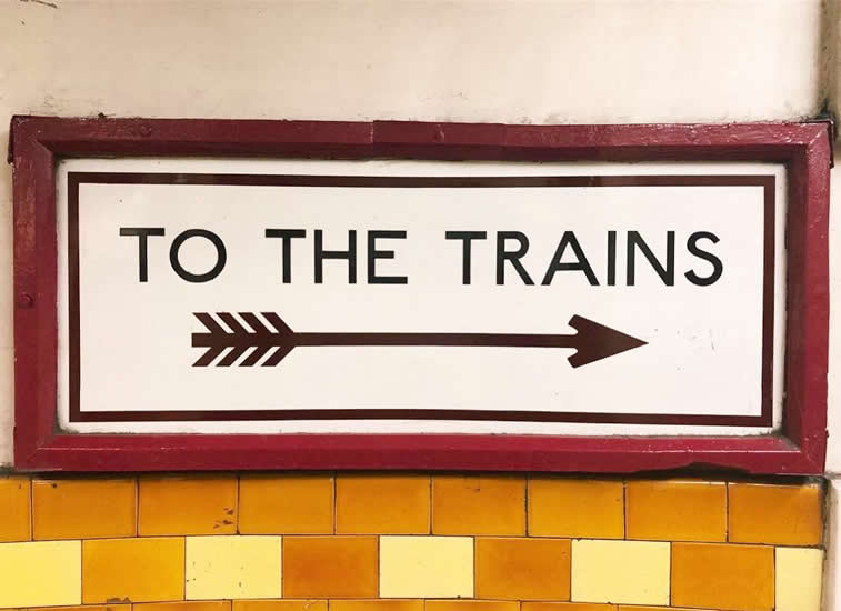 to the trains sign