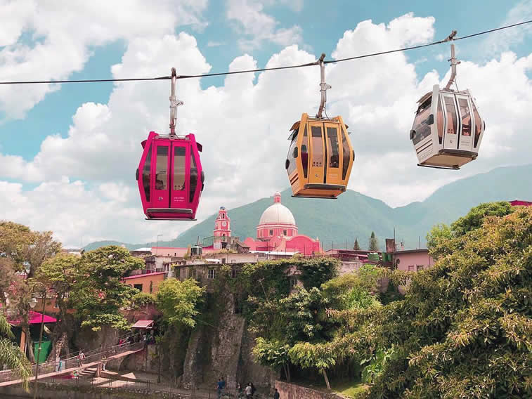 funicular colorful