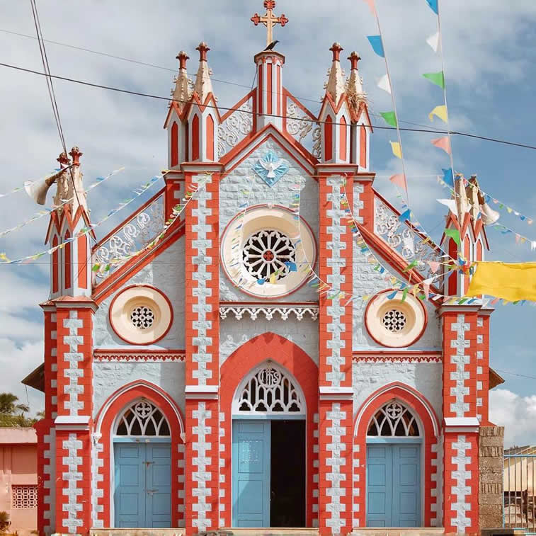 cathedral architecture colorfulfacade