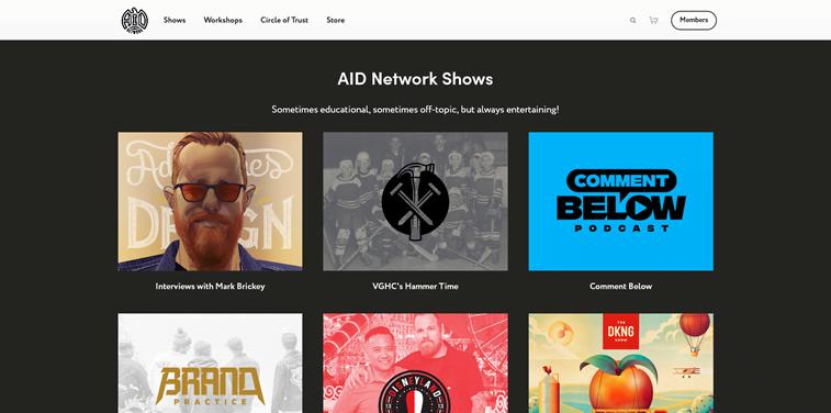 Adventures in desig AID network podcast episodes