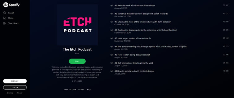 etch design podcast on spotify
