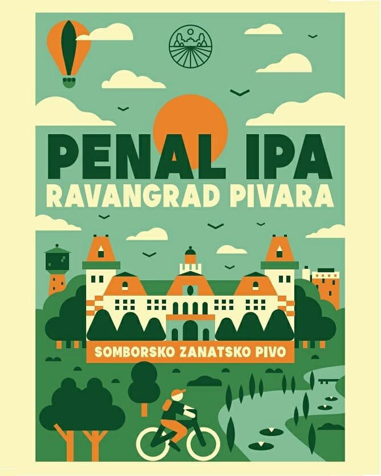 ravangard pivara etiketa za penal IPA pivo