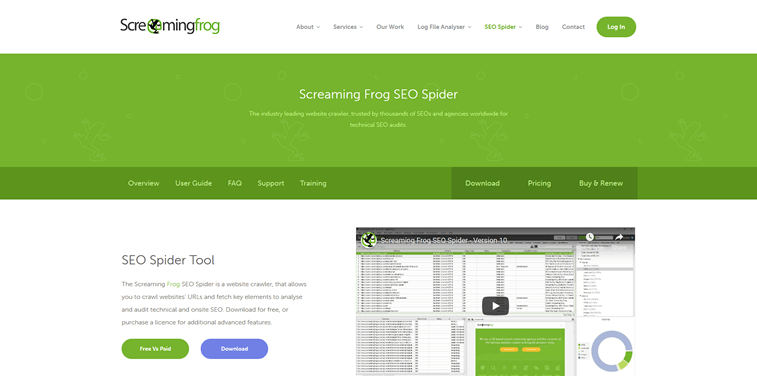 Screaming frog page metrics free seo tool