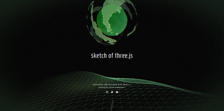 Sketch of three.js interactive website experiment