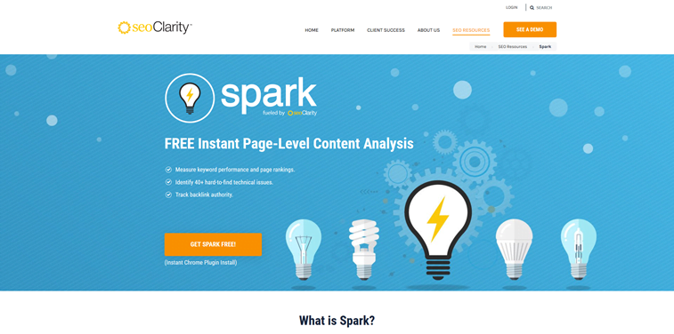 spark chrome extension seo tool