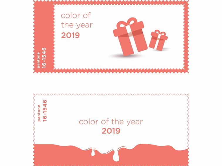 graficki dizajn living coral boja