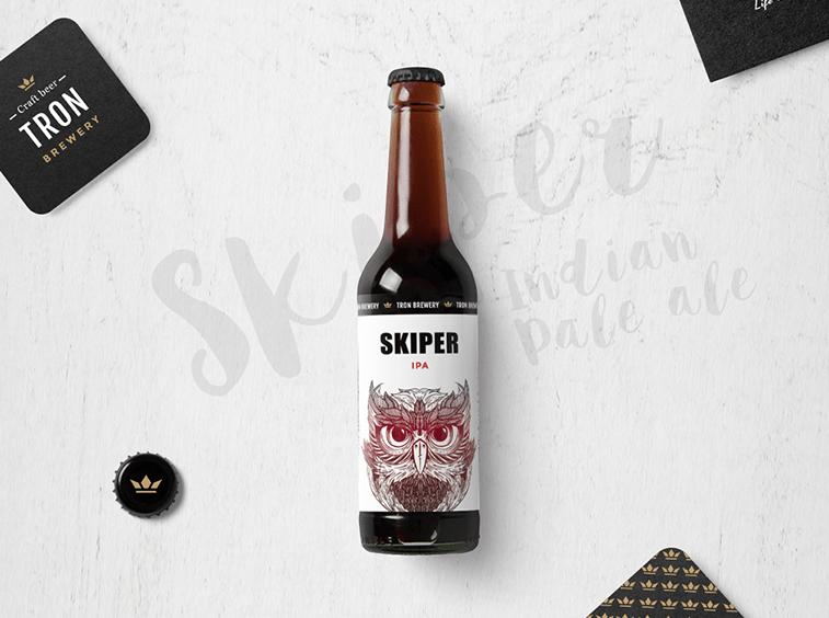tron pivara skiper pivo i etiketa