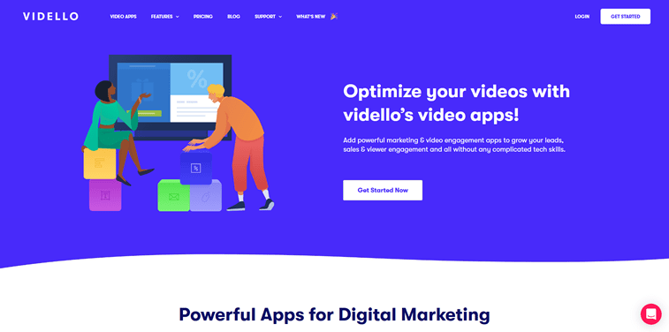 Vidello homepage people illustration