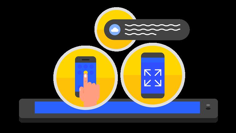 pwa prigresivne veb aplikacije na mobilnom telefonu grafika