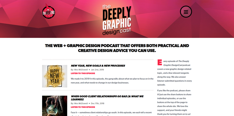 the deeply graphic designcast podcast