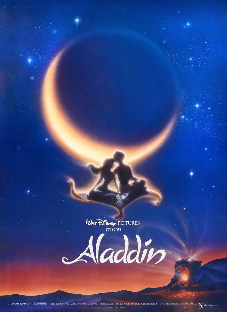 aladdin disney movie poster