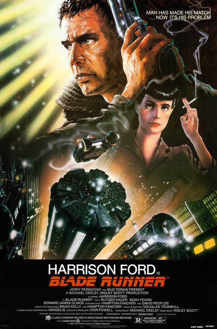 blade runner 1982 harison ford plakat za film
