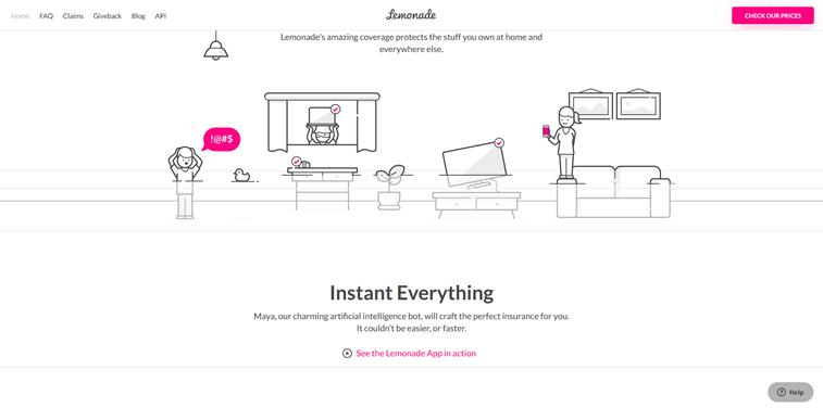Akcentovanje roze boja web sajt Lemonade