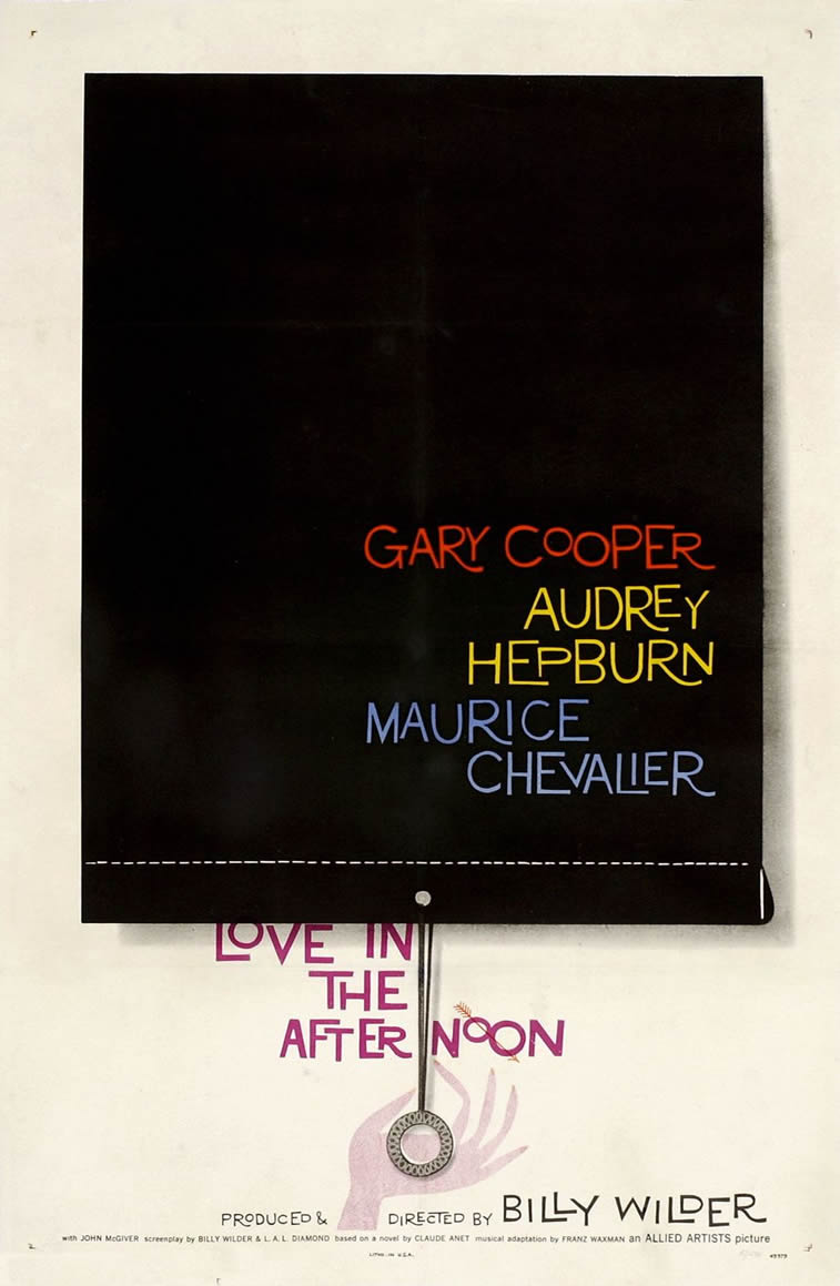 Love In The Afternoon filmski plakat audrey hepburn
