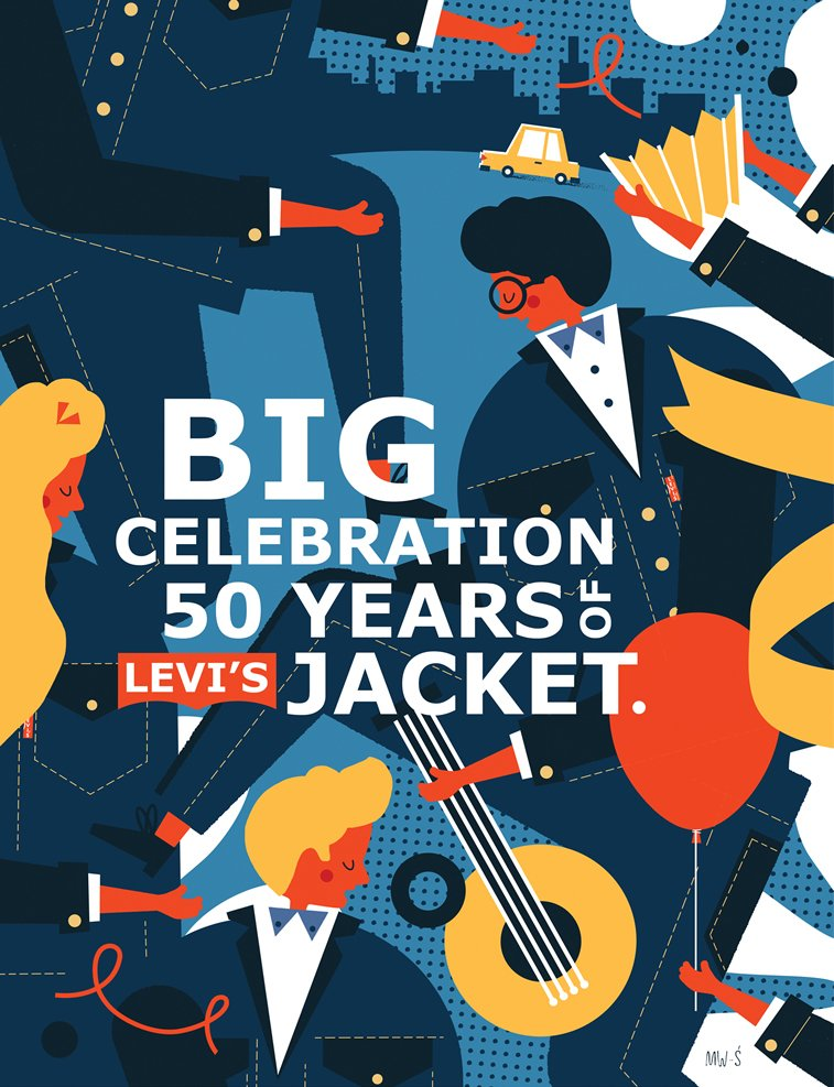 Concept illustration for the 50th anniversary of Levi's