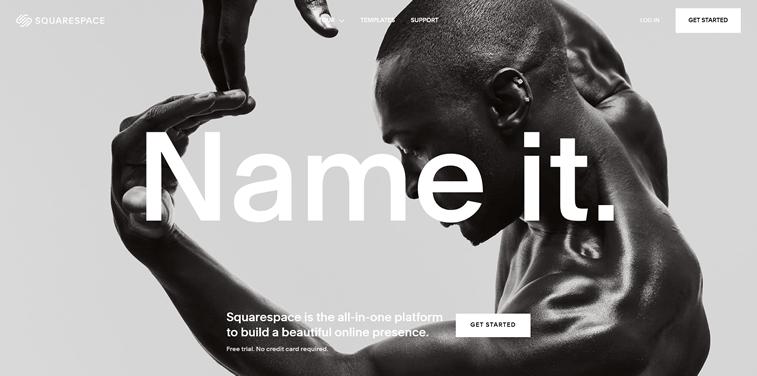 Redizajn Squarespace web sajt tipografija