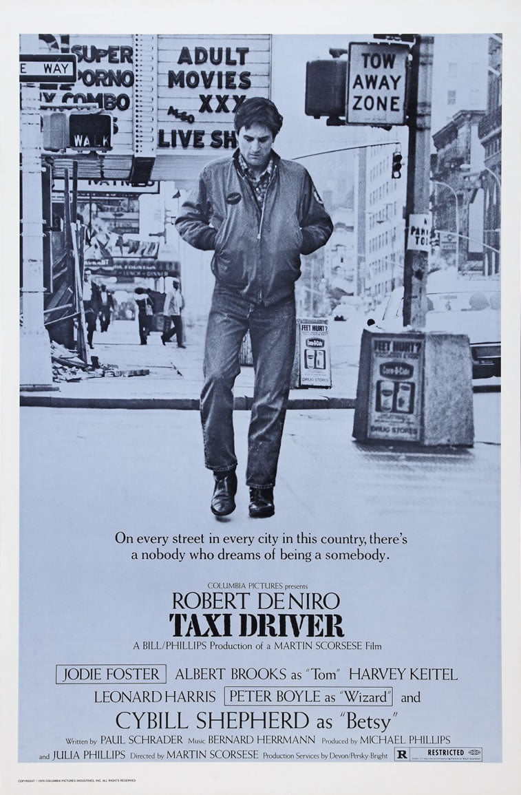 taxi driver de niro taksista film plakat