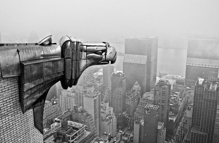 gargojli na krajsler zgradi new york