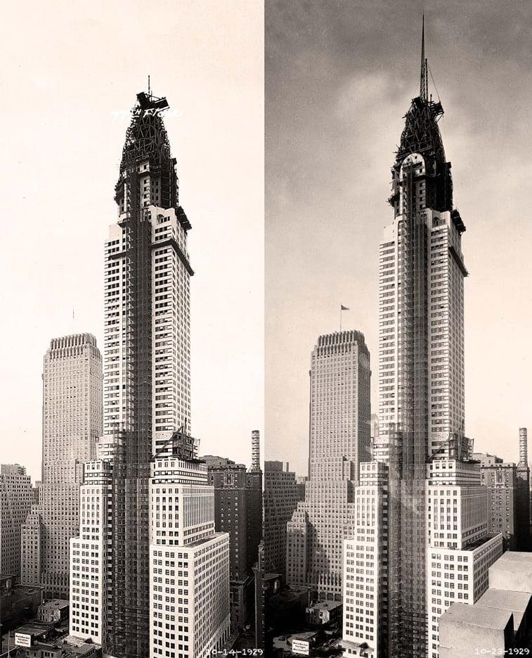 izgradnja krajsler zgrade new york