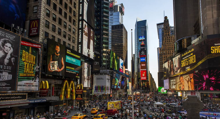 tajms skver danas new york